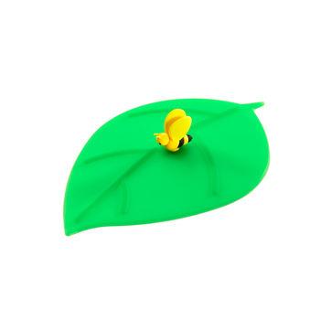 Lurch - My Lid - pokrywka silikonowa liść z pszczołą - wymiary: 10,5 x 12,5 cm