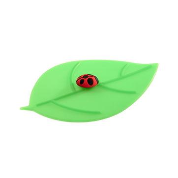 Lurch - My Lid - pokrywka silikonowa liść z biedronką - wymiary: 10,5 x 12,5 cm