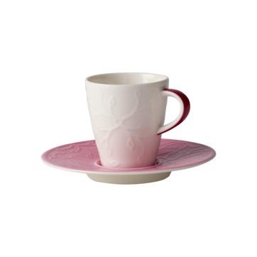 Villeroy & Boch - Caffé Club Floral Touch of Rose - filiżanka do espresso ze spodkiem - pojemność: 0,1 l