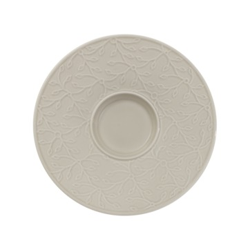 Villeroy & Boch - Caffé Club Floral Touch of Smoke - spodek pod filiżankę do białej kawy - średnica: 17 cm