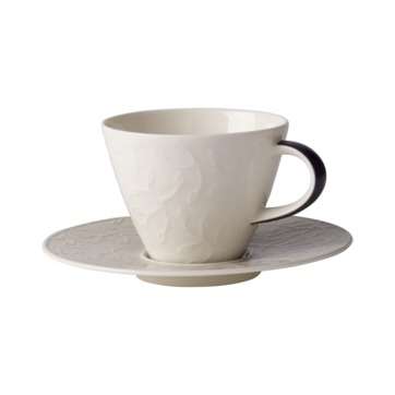 Villeroy & Boch - Caffé Club Floral Touch of Smoke - filiżanka do kawy ze spodkiem - pojemność: 0,22 l