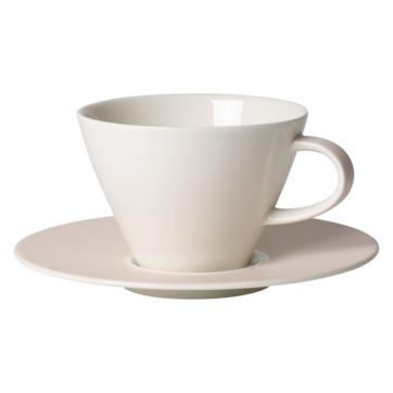 Villeroy & Boch - Caffé Club Uni Pearl - filiżanka do białej kawy ze spodkiem - pojemność: 0,39 l