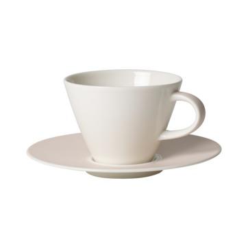 Villeroy & Boch - Caffé Club Uni Pearl - filiżanka do kawy ze spodkiem - pojemność: 0,22 l