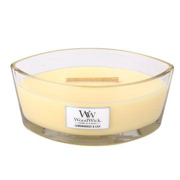 WoodWick - Lemongrass & Lilly - świeca zapachowa - cytrusowa lilia - czas palenia: do 40 godzin