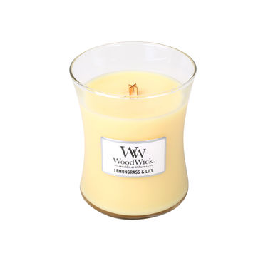 WoodWick - Lemongrass & Lilly - świece zapachowe - cytrusowa lilia