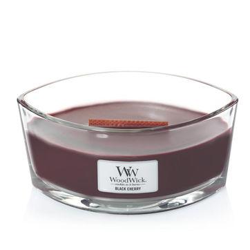WoodWick - Black Cherry - świeca zapachowa - owoce czeremchy - czas palenia: do 40 godzin