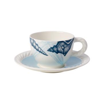 Villeroy & Boch - Montauk Beachside - filiżanka do kawy ze spodkiem - pojemność: 0,35 l
