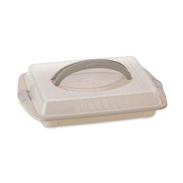 Kela - Deli - pojemnik na ciasto - wymiary: 45 x 30 cm