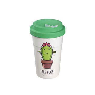 Zassenhaus - Eco Line - kubek podróżny - kaktus - pojemność: 0,4 l