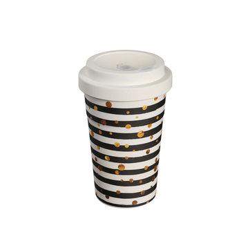 Zassenhaus - Eco Line - kubek podróżny - kropki - pojemność: 0,4 l
