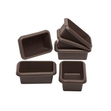 Lurch - FlexiForm - 6 mini-foremek prostokątnych - wymiary: 4 x 11 cm