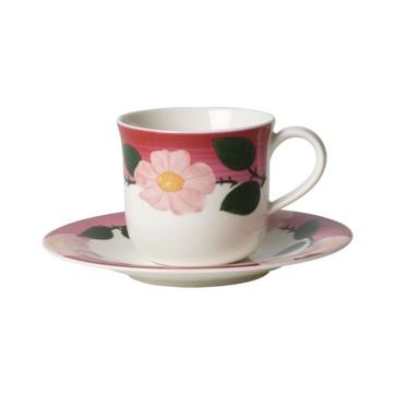 Villeroy & Boch - Rose Sauvage framboise - filiżanka śniadaniowa ze spodkiem - pojemność: 0,27 l