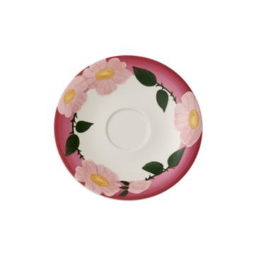 Villeroy & Boch - Rose Sauvage framboise - spodek do filiżanki śniadaniowej - średnica: 16 cm