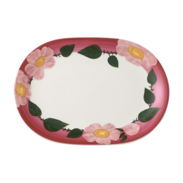 Villeroy & Boch - Rose Sauvage framboise - talerz owalny - wymiary: 26 x 18 cm