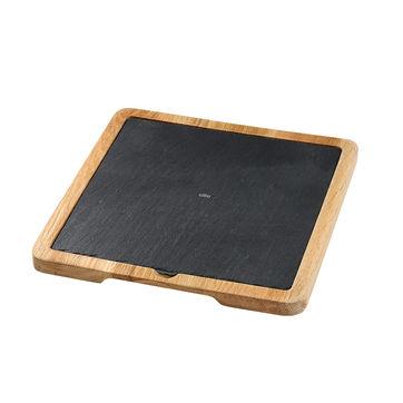 Cilio - Formaggio - deski do sera z łupka - na dębowych podstawach