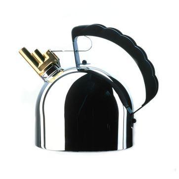 Officina Alessi - czajnik z gwizdkiem - pojemność: 2,0 l; nadaje się na kuchenki indukcyjne
