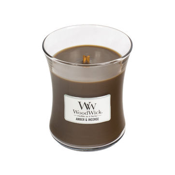 WoodWick - Amber & Incense - świeca zapachowa - egzotyczne kadzidło - czas palenia: do 100 godzin