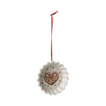 Villeroy & Boch - Winter Bakery Decoration - zawieszka - foremka z sercem - średnica: 9 cm