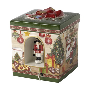 Villeroy & Boch - Christmas Toys - pudełko-lampion z pozytywką - wymiary: 16 x 16 x 20 cm