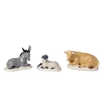 Villeroy & Boch - Nativity - 3 figurki - zwierzęta - wysokość: od 4,5 do 7 cm