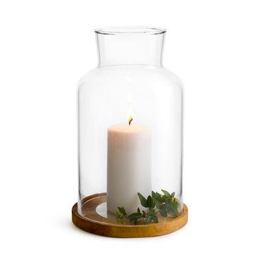 Sagaform - Nature - dwuczęściowy lampion ze świecą - wysokość: 21,5 cm; pudełko prezentowe