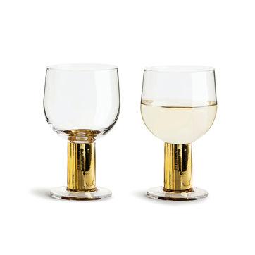Sagaform - Club - 2 kieliszki do wina - pojemność: 0,22 l; pudełko prezentowe