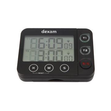 Dexam - podwójny minutnik cyfrowy z magnesem - wymiary: 9,5 x 7 x 2,5 cm