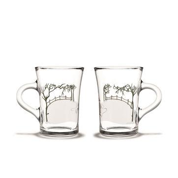 Holmegaard - Christmas - 2 szklanki do grzanego wina - pojemność: 0,24 l; lodowisko