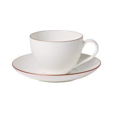 Villeroy & Boch - Anmut Rosewood - filiżanka do kawy ze spodkiem - pojemność: 0,2 l