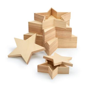 Philippi - Big Star - zestaw 4 pudełek - średnica: od 24 do 44 cm