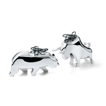 Philippi - Bull & Bear - 2 magnetyczne podstawki na spinacze - wysokość: 5 cm