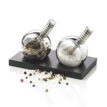 XD Design - Planet - zestaw młynków do soli i pieprzu - wymiary: 15 x 8 x 8 cm
