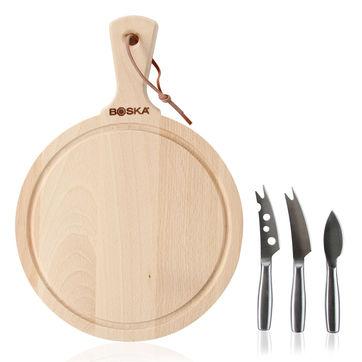 Boska - Amigo - zestaw do sera - 3 noże + deska