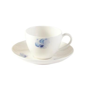 Villeroy & Boch - Pansy Blue - filiżanka do kawy ze spodkiem - pojemność: 0,2 l