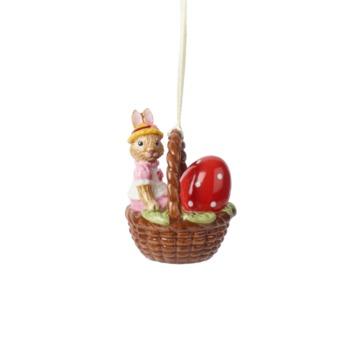 Villeroy & Boch - Bunny Tales - zawieszka-koszyk - zajączek Anna - wysokość: 6 cm