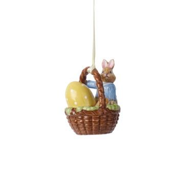 Villeroy & Boch - Bunny Tales - zawieszka-koszyk - zajączek Max - wysokość: 6 cm