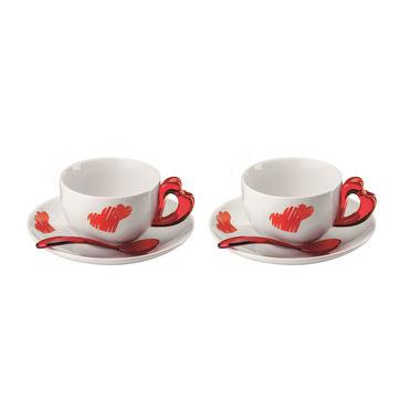 Guzzini - Love - zestaw do cappuccino - dla 2 osób