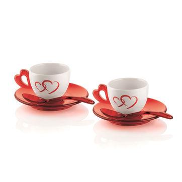 Guzzini - Love - zestaw do espresso - dla 2 osób