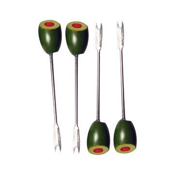 Dexam - 4 widelczyki do przekąsek - długość: 11 cm