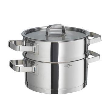 Küchenprofi - San Remo - garnek z wkładem do gotowania na parze - średnica: 20 cm