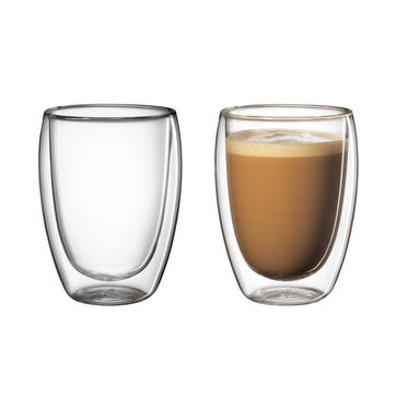 Cilio - 2 szklanki do kawy z mlekiem o podwójnych ściankach - pojemność: 0,35 l