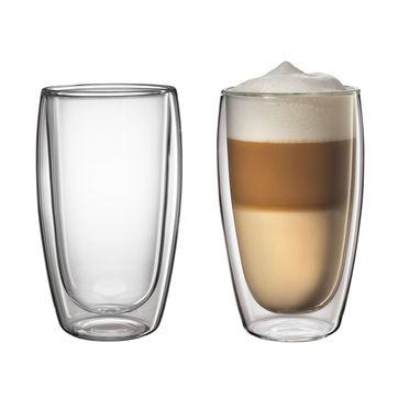 Cilio - 2 szklanki do latte macchiato o podwójnych ściankach - pojemność: 0,45 l