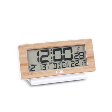 ADE - budzik elektroniczny z termometrem - wymiary: 12,5 x 4 x 8,5 cm