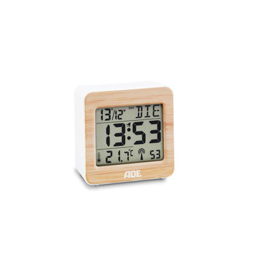ADE - budzik elektroniczny z termometrem - wymiary: 7 x 3,5 x 7 cm