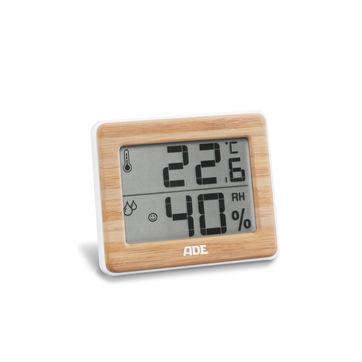 ADE - termometr pokojowy z higrometrem - wymiary: 10 x 1,5 x 8 cm