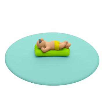 Lurch - My Lid - pokrywki silikonowe z plażowiczami - średnica: 10,5 cm