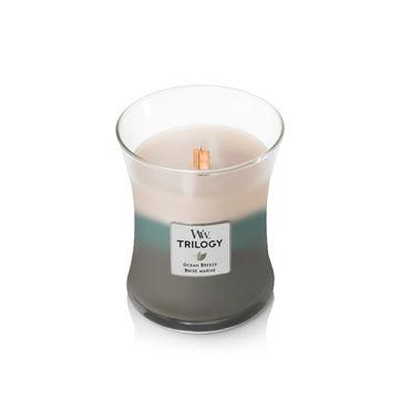 WoodWick - Ocean Breeze - potrójna świeca zapachowa - oceaniczny powiew - czas palenia: do 100 godzin