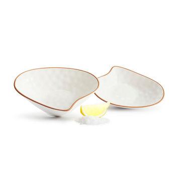 Sagaform - Seafood - 2 miseczki na przekąski - muszle - wymiary: 14,5 x 10,5 x 3,5 cm