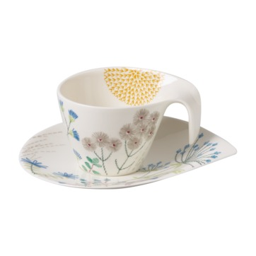 Villeroy & Boch - Flow Couture - filiżanka śniadaniowa ze spodkiem - pojemność: 0,38 l