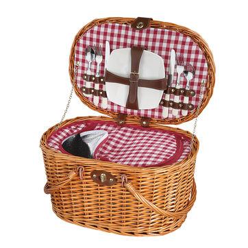 Cilio - Riva - kosz piknikowy z wyposażeniem dla 2 osób - wymiary: 45 x 31 x 25 cm